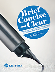 Brief, Concise, and ClearAndrew Corner
